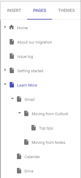 How to use Google Sites