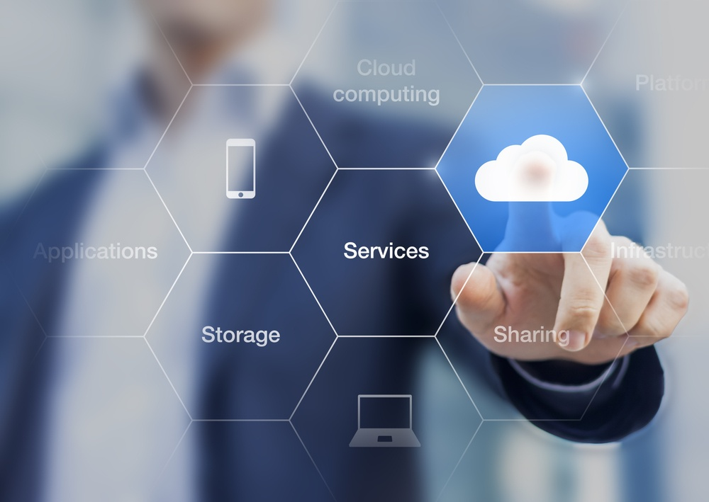 Image showing cloud computing, services and storage.