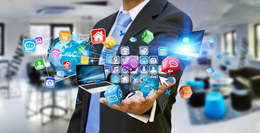 Digital workplace image of application logos