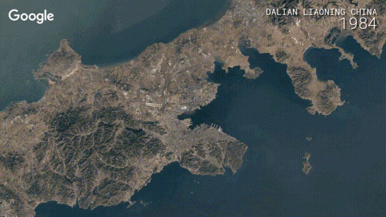 Map of China using Earth Engine Timelapse