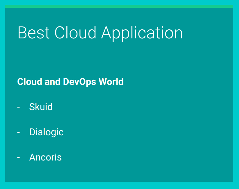 Best cloud application shortlist