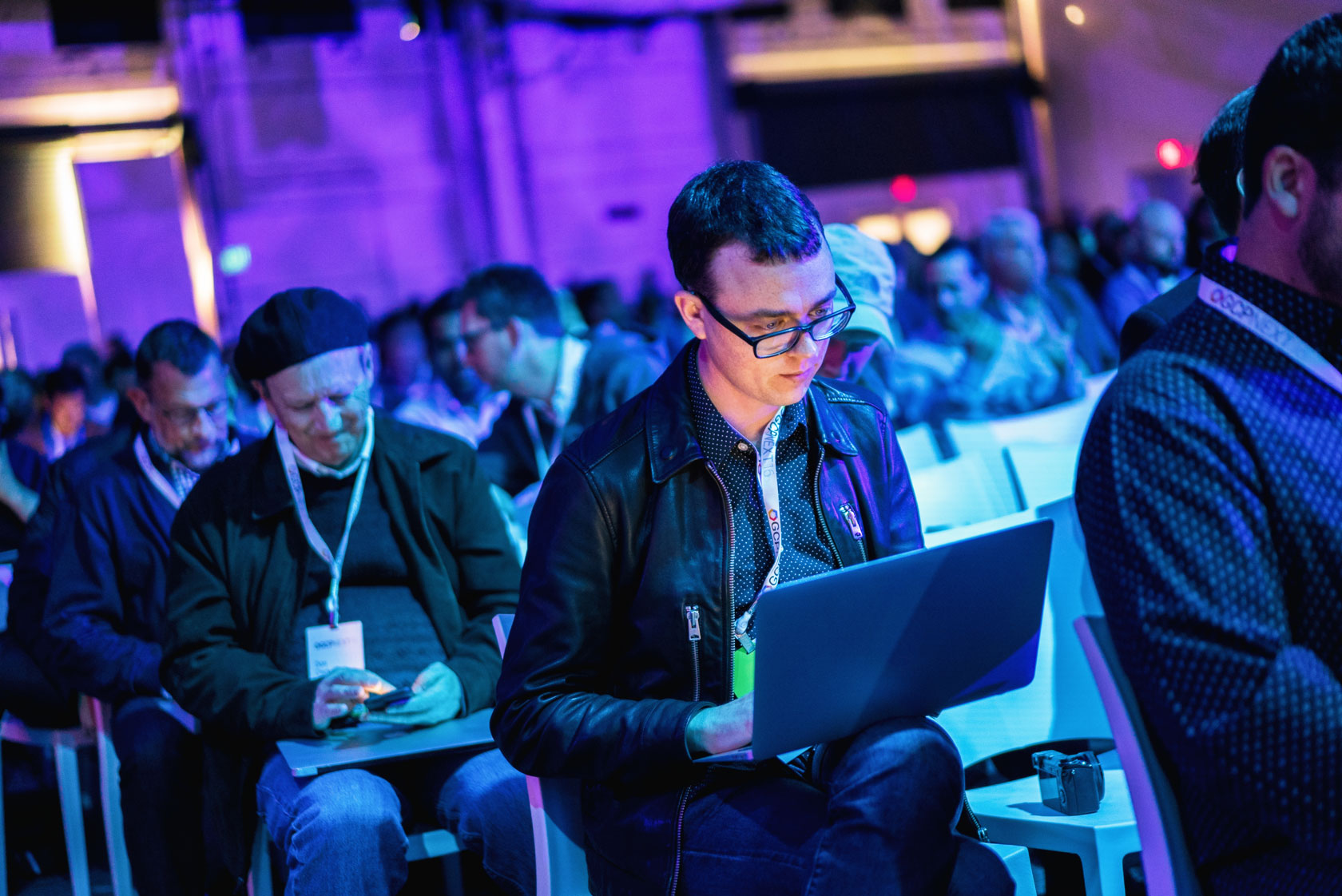 Young man attended Google conference