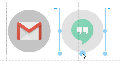 visual indicators when resizing images in Google Sites