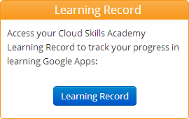 Cloud Skills Academy Learning Record