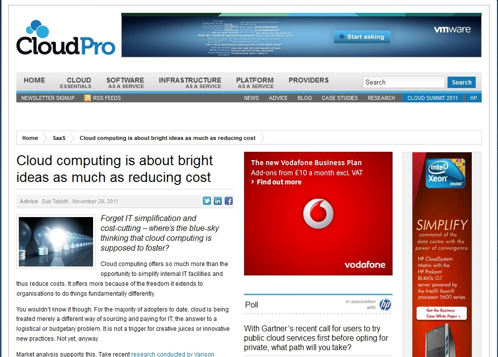 cloudpro cloud computing is about bright ideas as much as reducing