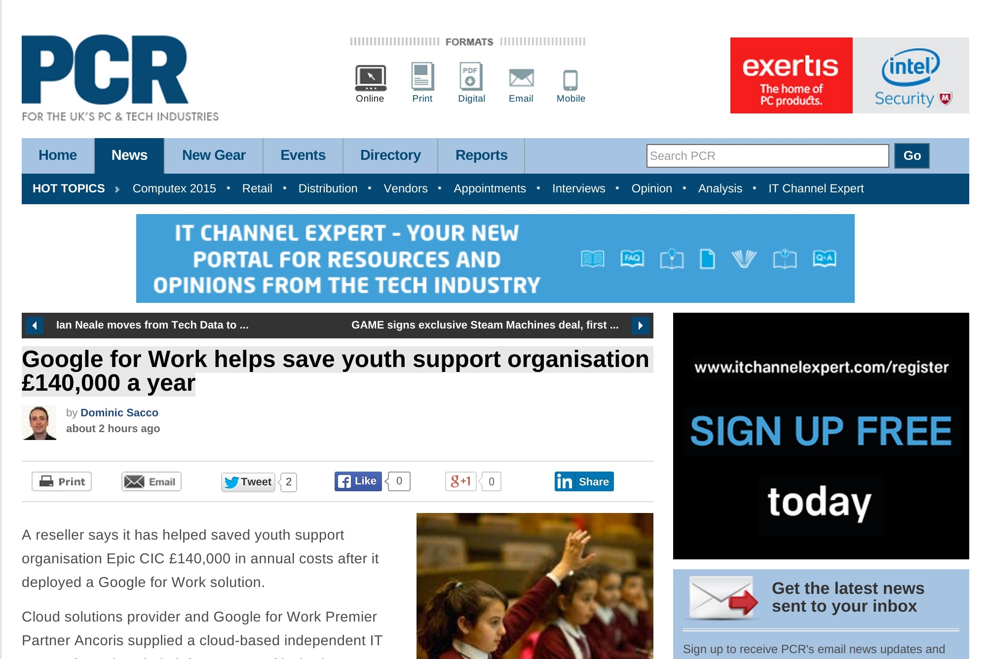 Ancoris helps save youth support organisation £140,000 a year